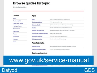 Slide 35 - The Manual (List of guides)