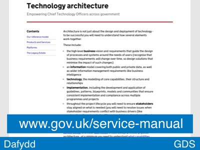 Slide 34 - The Manual (Technology architecture)
