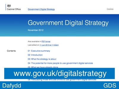The Government Digital Strategy